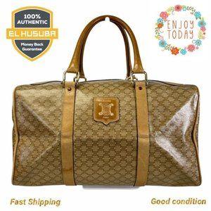 🌻💯Celine Satchel Bag Brown Macadam PVC